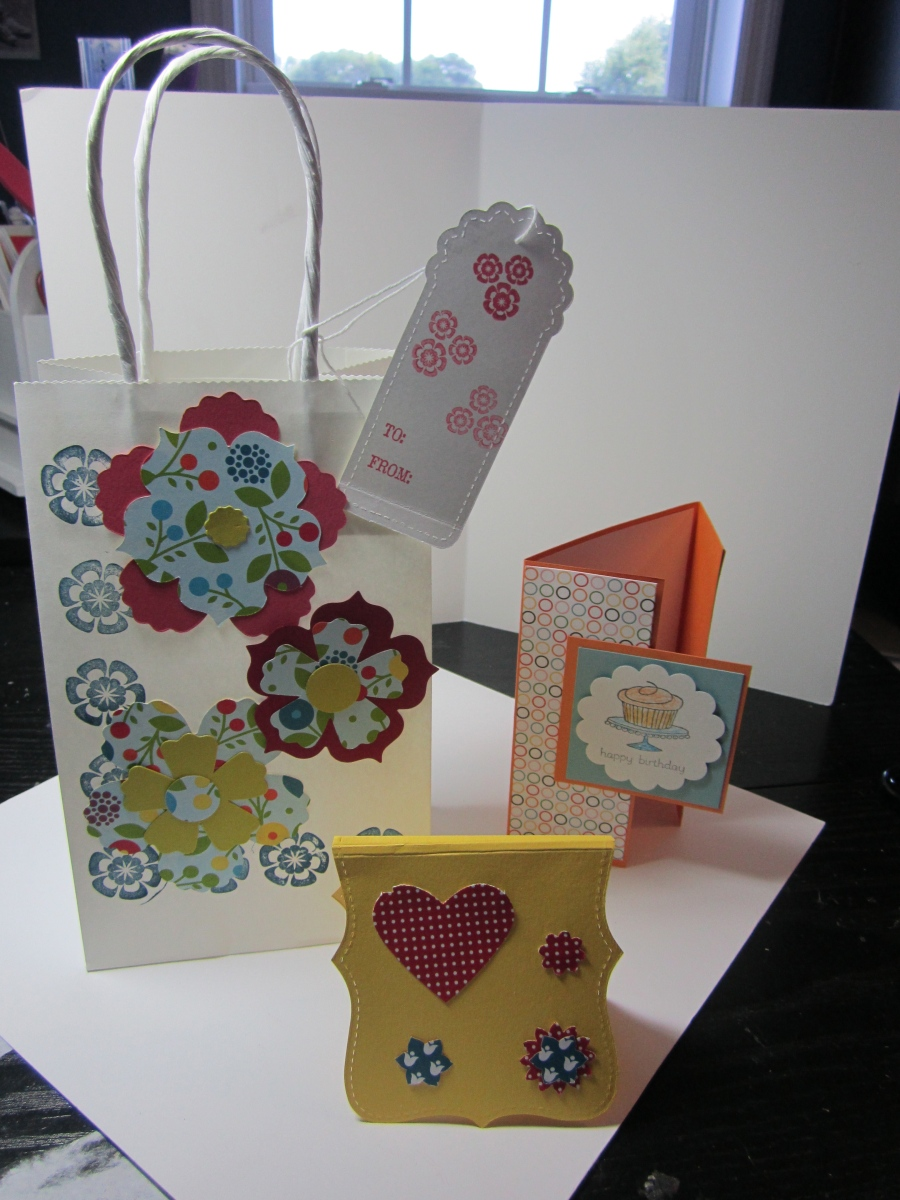 Here are the projects, although the girls' projects turned out even cuter! They were so creative!