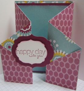 birthday card with fun folds