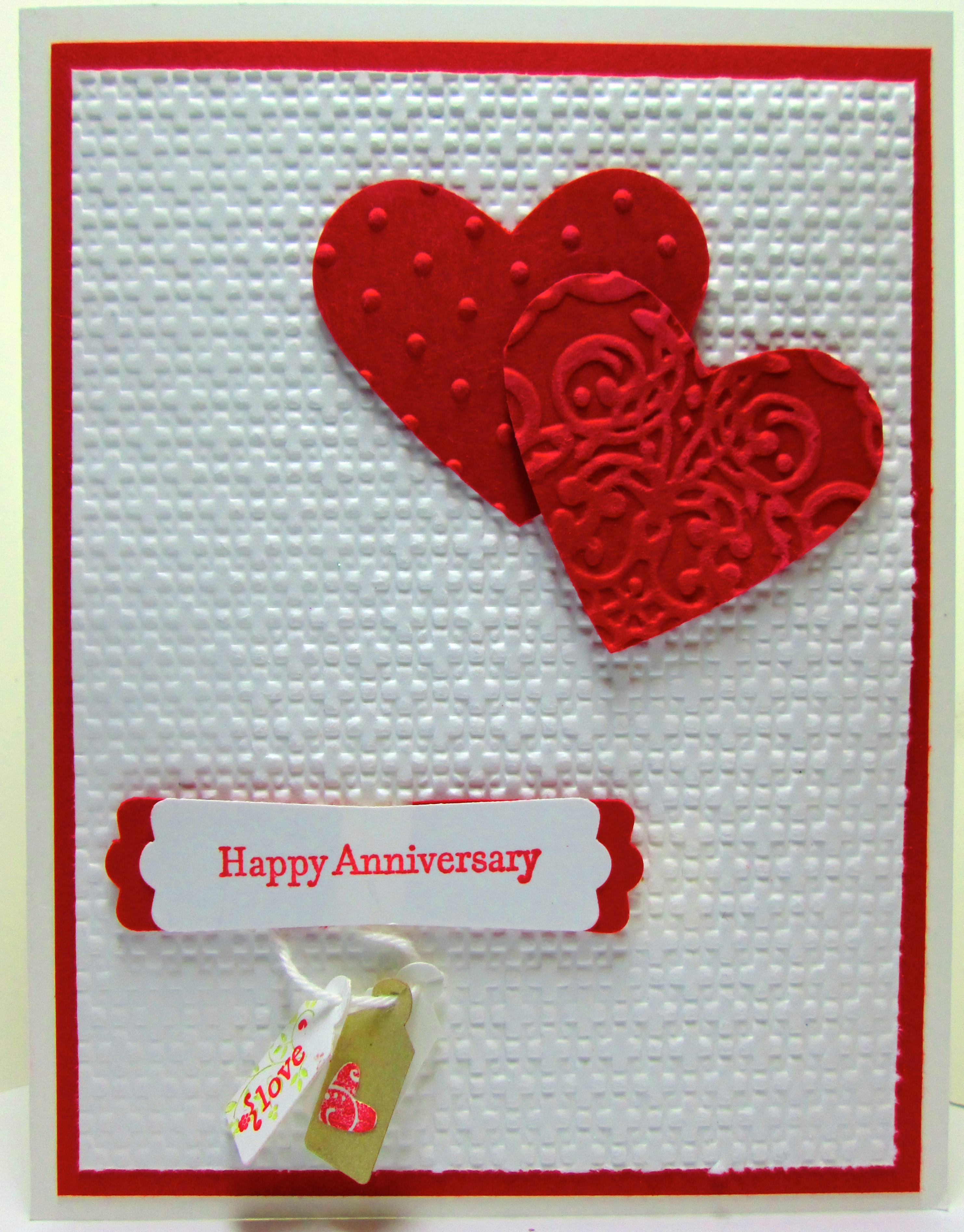 Anniversary wishes with owl builder punch diannes cards anniversary card kristyandbryce Images