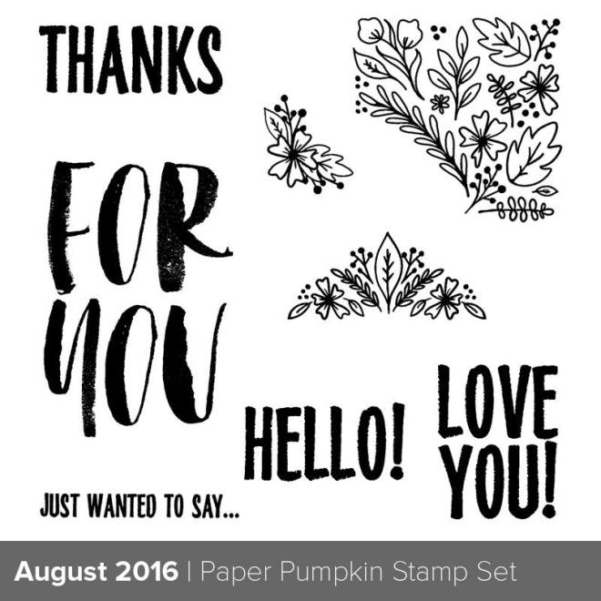 August, 2016, Paper Pumpkin Stamp set Bold Botanicals